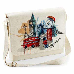 Fairtrade Cotton Canvas Messenger Bag