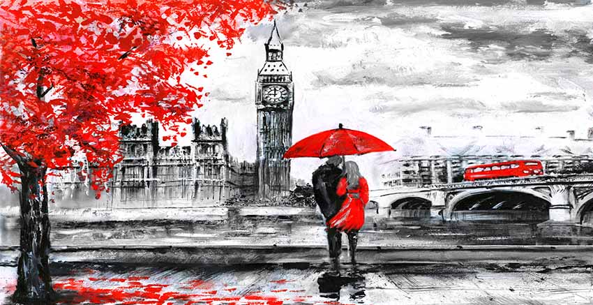 LONDON CANVAS WALL ART