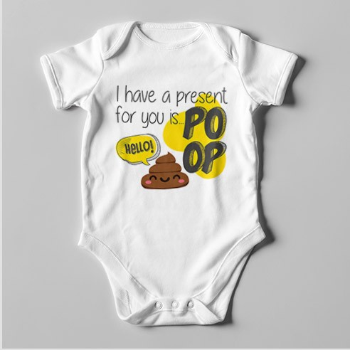 B53 Short Sleeve Baby Bodysuit I Have a Present for You...