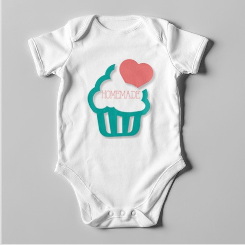 B64 Short Sleeve Baby Bodysuit Homemade