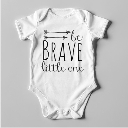 B70 Short Sleeve Baby Bodysuit Be Brave Little One
