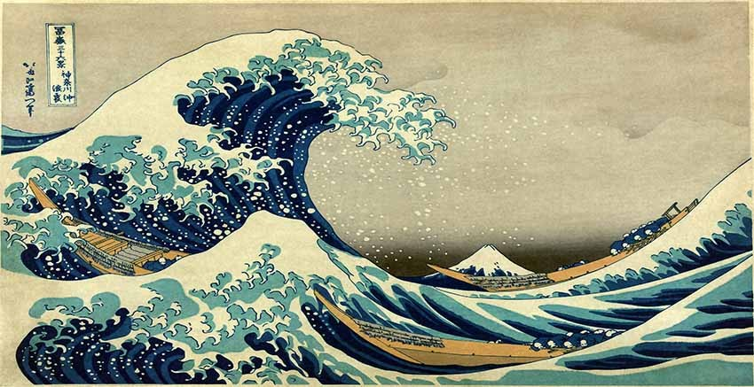 R2311 The Great Wave off Kanagawa Canvas Wall Art Canvas Print