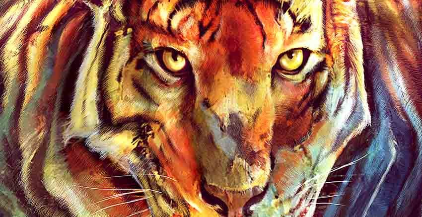 R2741 Canvas Wall Art Canvas Print Tiger