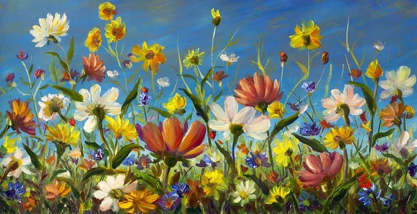 R3006 Canvas Wall Art Canvas Print Oil Paint Effect