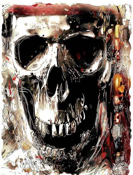 T01 Regular Fit Printed T-Shirt Skull