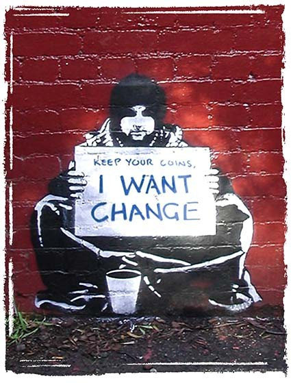 T101 Regular Fit Printed T-Shirt Banksy Keep Your Coins