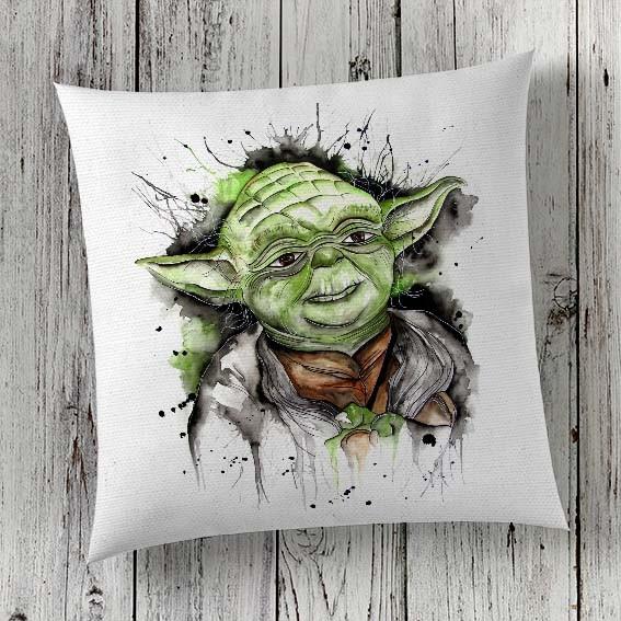 C12 Cushion Cover Sublimation Print Yoda