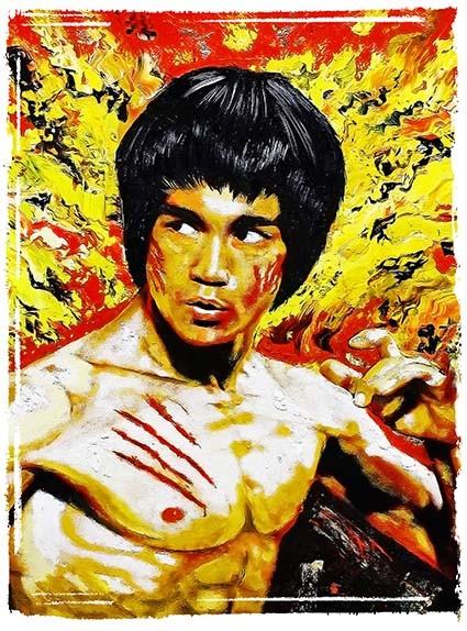 T138 Regular Fit Printed T-Shirt Bruce Lee