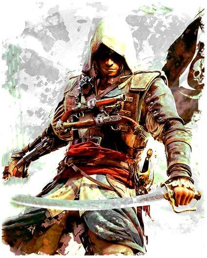 T13 Regular Fit Printed T-Shirt Assassin's Creed