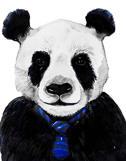 T140 Regular Fit Printed T-Shirt Panda