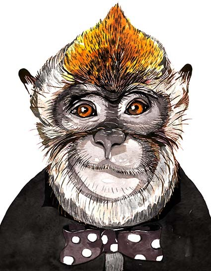 T143 Regular Fit Printed T-Shirt Monkey