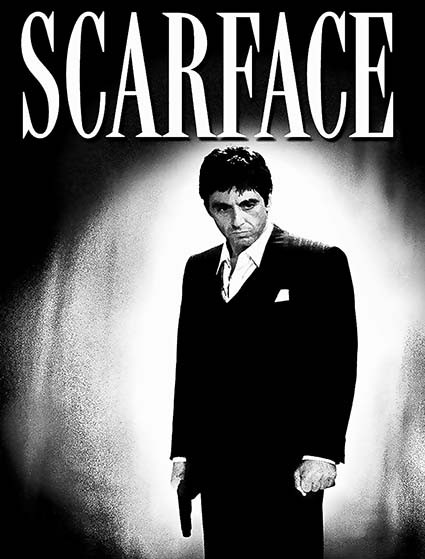 T155 Regular Fit Printed T-Shirt Scarface