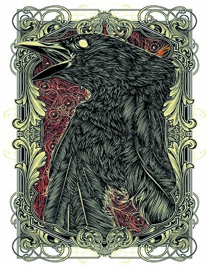 T17 Regular Fit Printed T-Shirt Raven