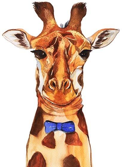 T188 Regular Fit Printed T-Shirt Giraffe
