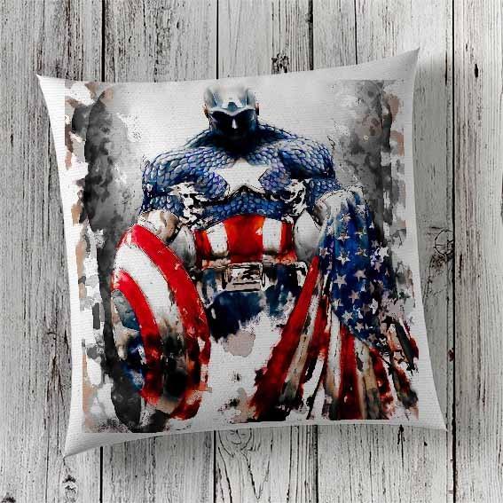 C18 Cushion Cover Sublimation Print Captain America