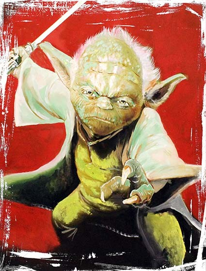 T217 Regular Fit Printed T-Shirt Yoda