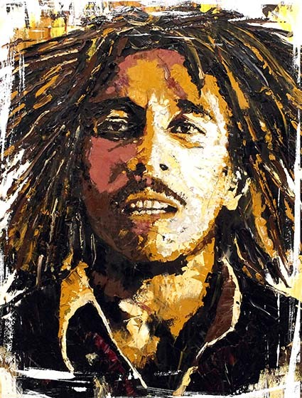T219 Regular Fit Printed T-Shirt Bob Marley