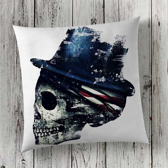 C22 Cushion Cover Sublimation Print Skull