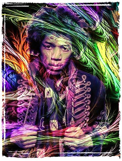 T230 Regular Fit Printed T-Shirt Jimi Hendrix