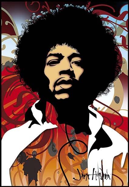 T236 Regular Fit Printed T-Shirt Jimi Hendrix