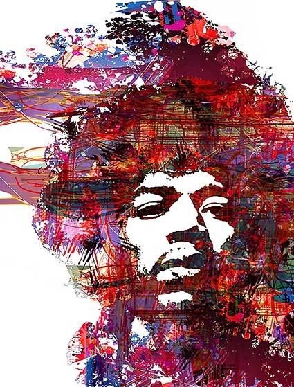 T237 Regular Fit Printed T-Shirt Jimi Hendrix