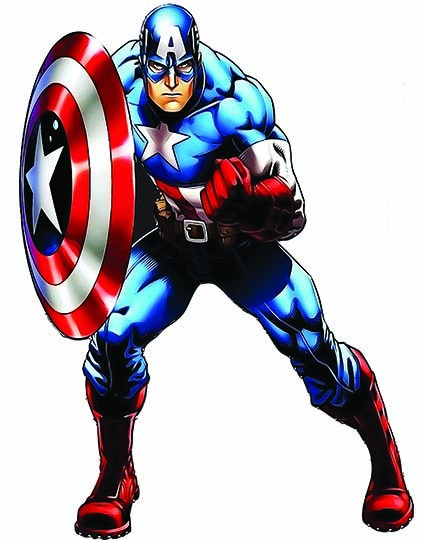 T24 Regular Fit Printed T-Shirt Captain America