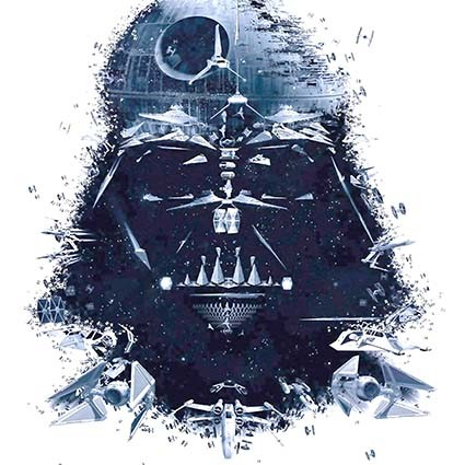 T245 Regular Fit Printed T-Shirt Darth Vader