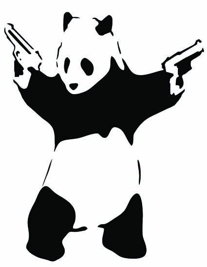 T25 Regular Fit Printed T-Shirt Banksy Panda