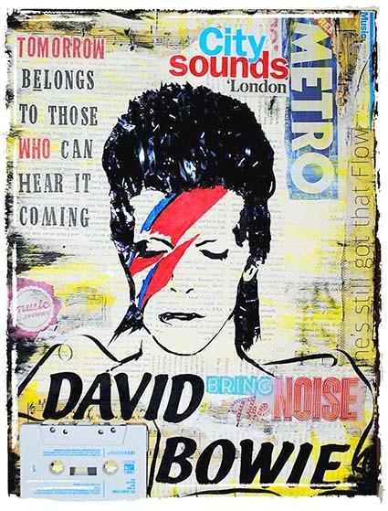 T255 Regular Fit Printed T-Shirt David Bowie
