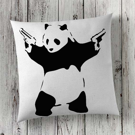 C25 Cushion Cover Sublimation Print Banksy Panda