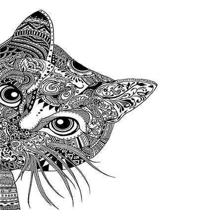T269 Regular Fit Printed T-Shirt Cat