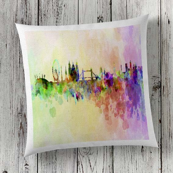 C26 Cushion Cover Sublimation Print London Skyline