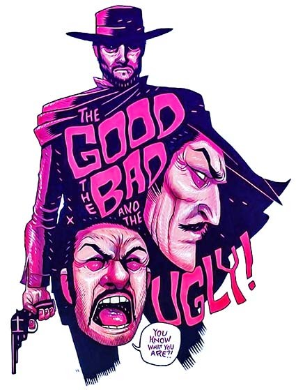 T283 Regular Fit Printed T-Shirt The Good The Bad and The Ugly