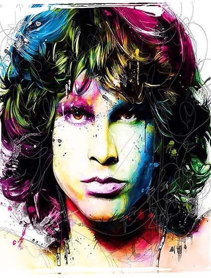 T286 Regular Fit Printed T-Shirt Jim Morrison The Doors