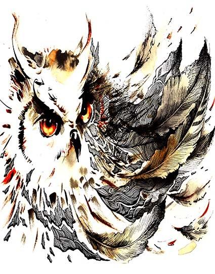 T31 Regular Fit Printed T-Shirt Owl