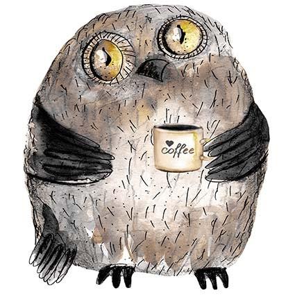 T337 Regular Fit Printed T-Shirt Owl