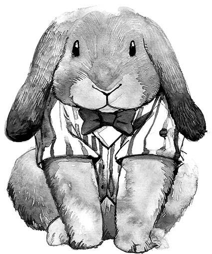 T341 Regular Fit Printed T-Shirt Rabbit