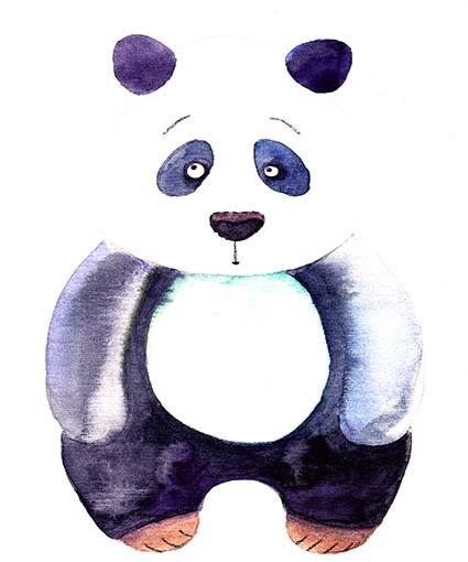 T347 Regular Fit Printed T-Shirt Panda