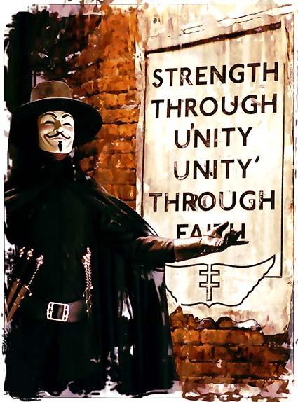 T34 Regular Fit Printed T-Shirt V for Vendetta