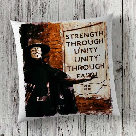 C34 Cushion Cover Sublimation Print V for Vendetta