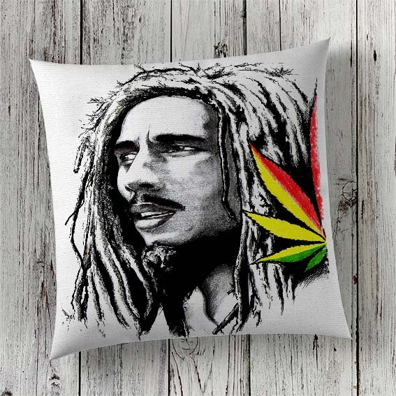 C36 Cushion Cover Sublimation Print Bob Marley