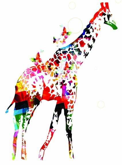 T371 Regular Fit Printed T-Shirt Giraffe