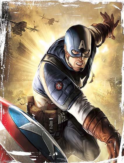 T402 Regular Fit Printed T-Shirt Captain America