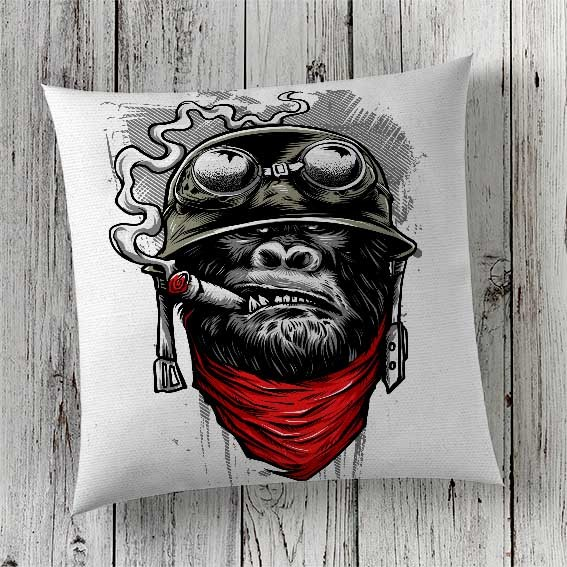 C40 Cushion Cover Sublimation Print Gorilla