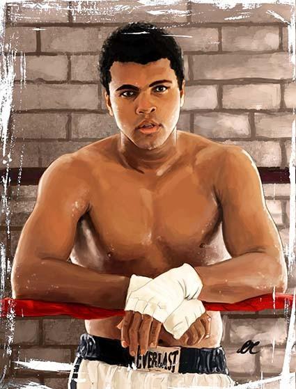 T463 Regular Fit Printed T-Shirt Muhammad Ali