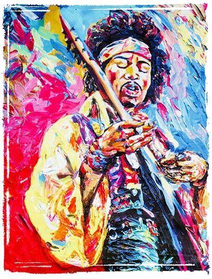 T465 Regular Fit Printed T-Shirt Jimi Hendrix