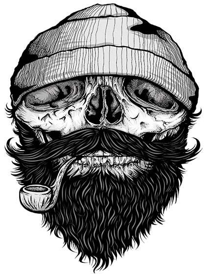 T46 Regular Fit Printed T-Shirt Skull