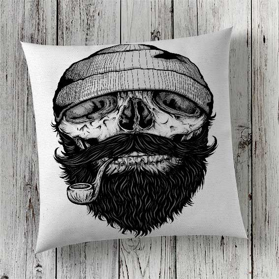 C46 Cushion Cover Sublimation Print Skull