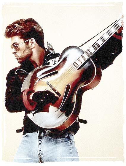 T471 Regular Fit Printed T-Shirt George Michael