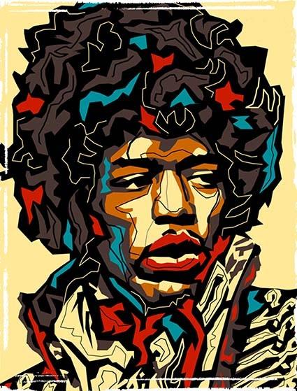 T479 Regular Fit Printed T-Shirt Jimi Hendrix